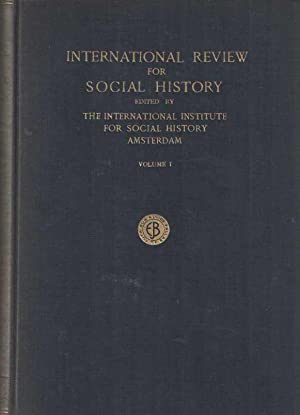 International Review for Social History. Volume I, II, III, IV & Supplement on Volume II