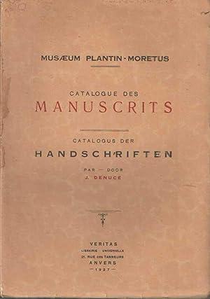 Musaeum Plantin-Moretus. Catalogue des Manuscrits. Catalogus der Handschriften: Denuc�, J.