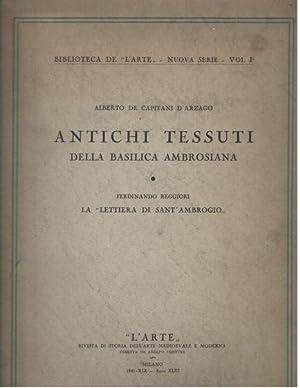 """Antichi Tessuti della basilica Ambrosiana - Ferdinando Reggiori, La """"Lettiera di Sant Ambrogio..."""