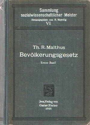 Sammlung sozialwissenschaftlicher Meister - Band 6: Eine Abhandlung über das Bevö...