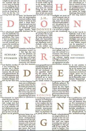 De koning schaakstukken. Samengesteld en ingeleid door: Donner, J.H.