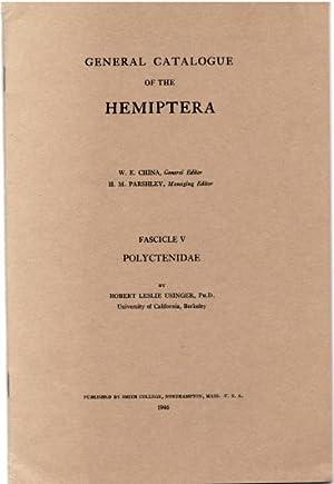 General Catalogue of the Hemiptera Fasc. V: Polyctenidae: Usinger, R.L.