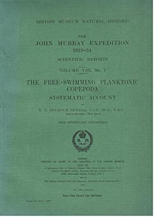 The Free-swimming Planktonic Copepoda. The John Murray: Sewell, R.B.S.