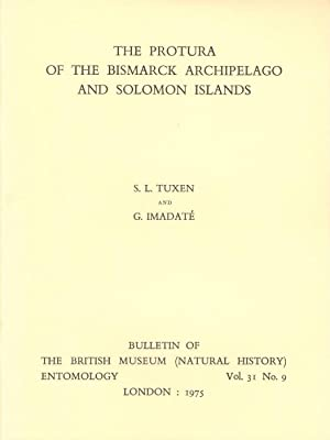 The Protura of the Bismarck Archipelago and: Tuxen, S.L.; Imadate,