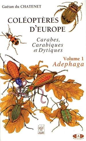 Coléoptères d'Europe Vol. 1. Adephaga: Carabes, Carabiques: Chatenet, G. du