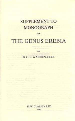 Supplement to Monograph of the Genus Erebia: Warren, B.C.S.