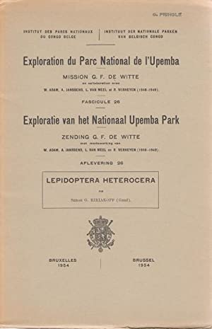 Lepidoptera Heterocera: Exploration du Parc National de: Kiriakoff, S.G.