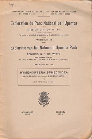 Hymenoptera Sphecoidea (Sphecidae II. Crabroninae) (Exploration du: Leclercq, J.