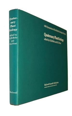 Quaternary Plant Ecology: Birks, H.J.B.; West,