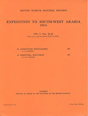 Expedition to South-West Arabia 1937-8 Vol.1 nos: Gabriel, A.G.; Miller,