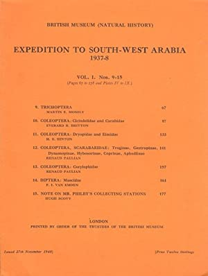 Expedition to South-West Arabia 1937-8 Vol.1 nos