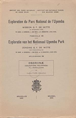 Osoriinae (Coleoptera, Polyphaga) (Exploration du Parc National: Fagel, G.