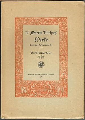 D. Martin Luthers Werke. Kritische Gesamtausgabe. Die