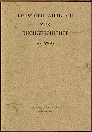 Leipziger Jahrbuch zur Buchgeschichte 9 (1999).