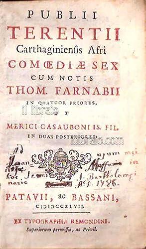 Publii Terentii Carthaginiensis Afri comoediae sex cum: TERENZIO P. A.