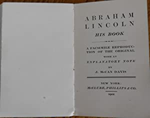 Abraham Lincoln, His Book