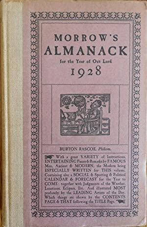 Morrow's Almanack for the year of our Lord 1928