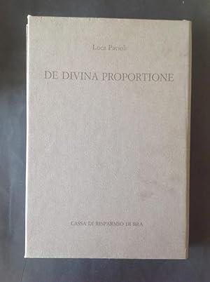 DE DIVINA PROPORTIONE: LUCA PACIOLI