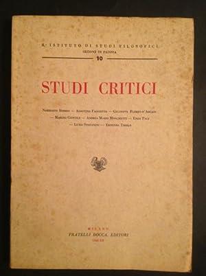 STUDI CRITICI: NORBERTO BOBBIO, AGOSTINO