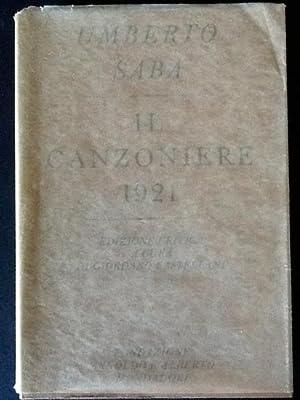 IL CANZONIERE 1921: UMBERTO SABA