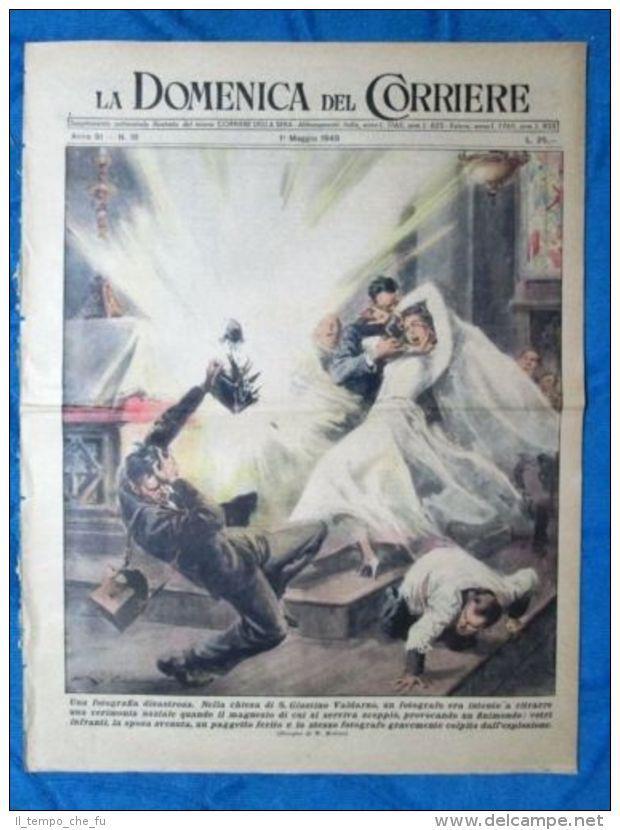 La Domenica del Corriere 1 maggio 1949 S.Giustino Valdarno - Roma - L.Perosi