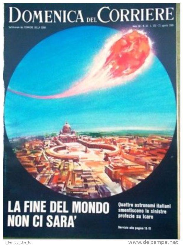 La Domenica del Corriere 21 Agosto 1966 Neurochirurgia Biagi Agnelli Fine Mondo
