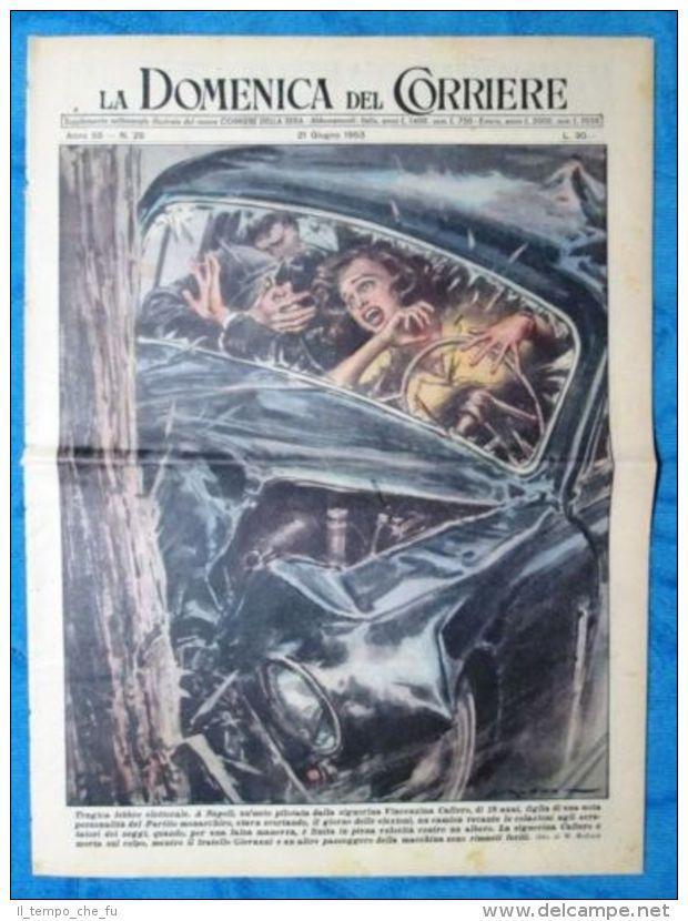 La Domenica del Corriere 21 giugno 1953 V.Cafiero - S.Henie - Indro Montanelli