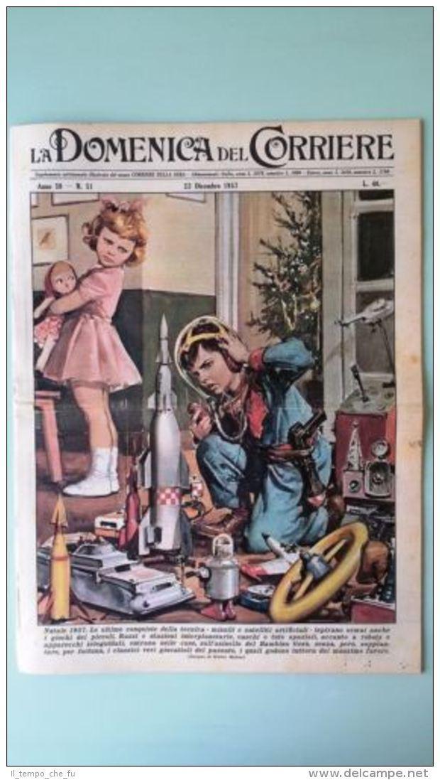 La Domenica del Corriere 22 dicembre 1957 Natale - Codogno - Capitano Morgan