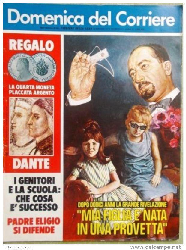 La Domenica del Corriere 22 Maggio 1975 Provetta Moser Spadolini Tv a Colori Rai