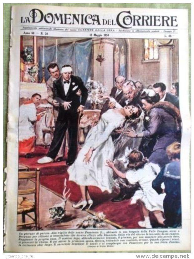 La Domenica del Corriere 18 Maggio 1958 Laika Il Musichiere Festival di Cannes