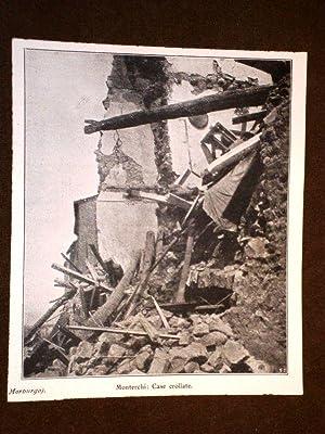 Terremoto nell'Aretino nel 1917 Monterchi Case crollate