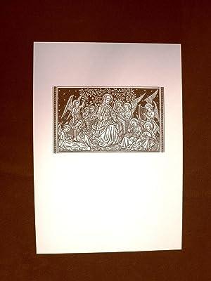 Litografia Natale Adorazione degli Angeli Liber Gradualis