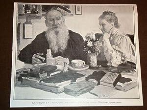 Leone Tolstoi e sua moglie Quadro del
