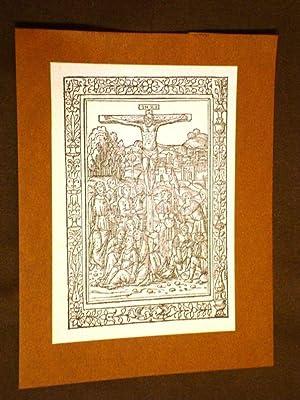 Cartoncino d'Arte Missale Romanum Venezia 1472 Crocifissione