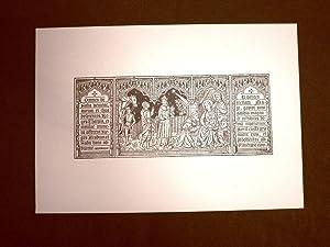 Litografia Natale Adorazione dei Magi Missale Romano-Seraphicum