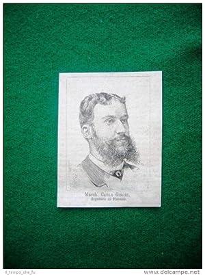 1882 - Marchese Carlo Ginori, deputato di