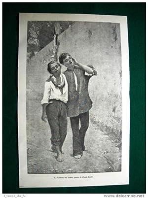 1884 - La canzone del giorno, quadro