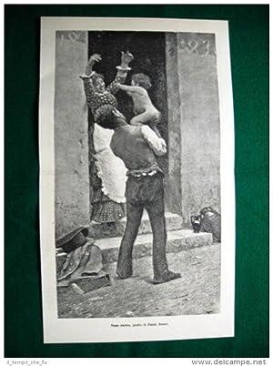 1884 - Primo frutto, quadro di Fausto