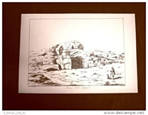 Antica tomba Siracusa Sicilia Ristampa John Goldicutt