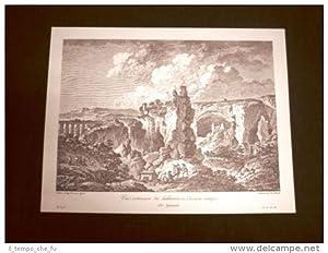 Antica veduta esterna della Latomia di Siracusa