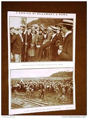Arrivo di Beaumont a Roma nel 1911
