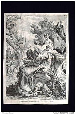 Capolavori dell'arte industriale-Fontana,Jean Antoine Watteau Incisione del