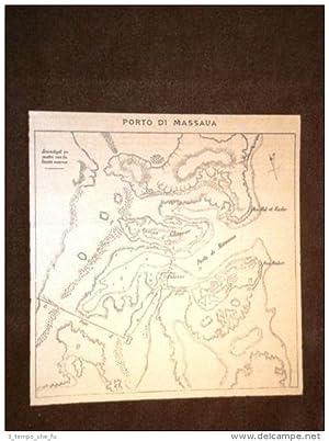 Carta o cartina del 1886 Il porto