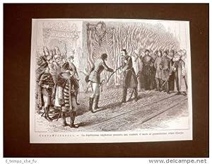 Costantinopoli o Istanbul nel 1877 Ungheria sciabola