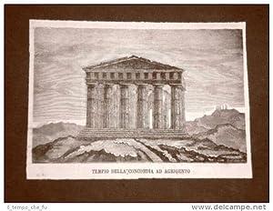 Agrigento o Girgenti nel 1876 Tempio della