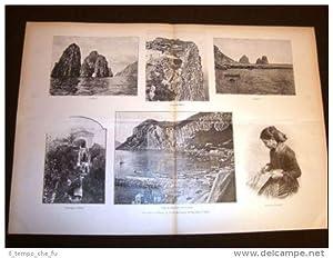 Enorme Gita all'Isola di Capri nel 1894