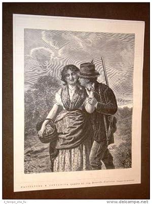 Esposizione d'arte di Brera nel 1877 Cacciatore