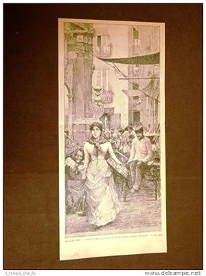 Esposizione d'Arte di Brera nel 1886 Scena