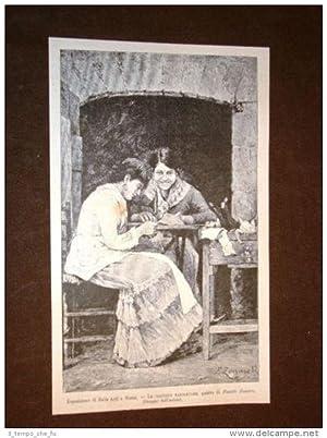 Esposizione d'arte di Roma nel 1883 Cucitrici