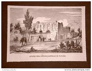 Favara nel 1876 Gli avanzi dell'antico Castello